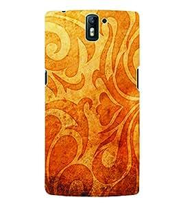 Fuson 3D Printed Pattern Designer Back Case Cover for OnePlus One - D972