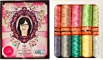 Aurifil Thread Set PREMIUM COLLECTION By Tula Pink Variegated 50wt Cotton 10 Small (220 yard) Spools