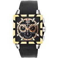 [エドックス]EDOX 腕時計 クラスロイヤル ブラック文字盤 ステンレス(YGPVD)ケース ラバーベルト 10013-357RN-NIR メンズ 【並行輸入品】