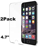 Bekhic Tempered Glass Screen Protector for Apple iPhone 6 - 2 pack