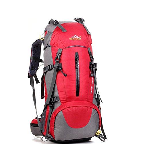 Grand voyage de capacité sac / alpinisme sacs / sac à dos en plein air / sac de sport imperméables-rouge 50L
