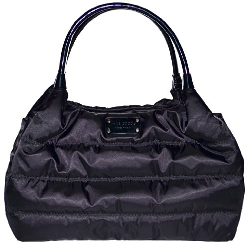 Cheap Kate Spade Alpine Hills Nylon Puffy Stevie Handbag Bag Purse Tote Black