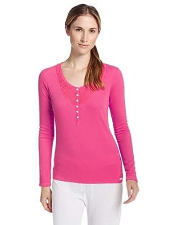 Kensie Women's Weekend Warmup Pajama Top, Superpink, X-Small