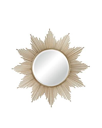 Artistic Metal Starburst Mirror, Bronze, 41 x 41