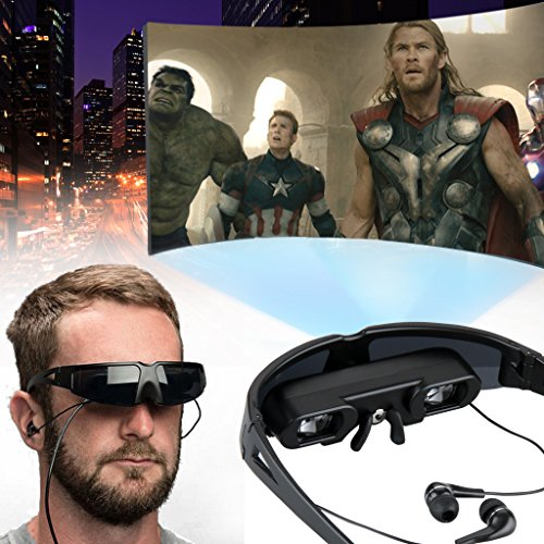Read About Excelvan Portable Multimedia Player Video Glasses Eyewear - Movies on 52 Inch 4:3 Virtual...