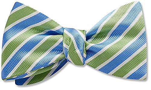 Padua Green Striped, Men's Bow Tie, by Beau Ties Ltd of Vermont