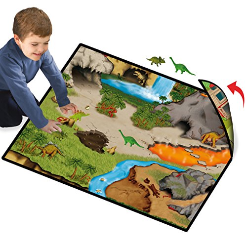 Neat-Oh! Dinosaur Prehistoric World 2-Sided Playmat w/ 2 Dinos - 1