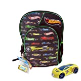"Hot Wheels 15"" backpack with toy car"