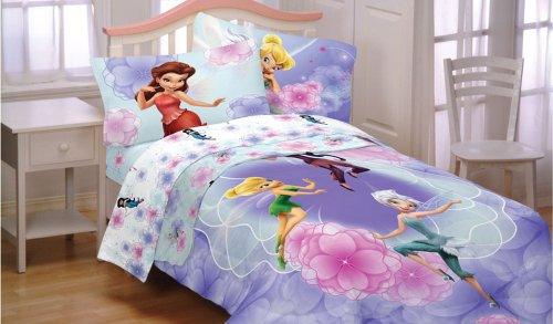 Sale Disney Fairies Tinkerbell Floral Frolic 4pc Twin Bedding Set