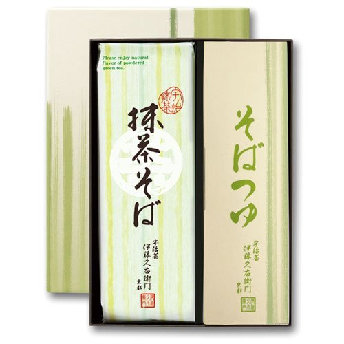 Itoh h. right Mamoru gate Gifts Gift Uji Matcha green tea soba noodles 2 × 3 bags with sauce 6 bags boxed t-2