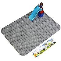 Lego-Duplo Big Dot Compatible Mega Bloks Compatible Brick Building Base 15 X 10 Silver Gray Baseplate - By Fun...