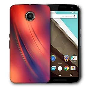Snoogg Red And Orange Background Design Designer Protective Phone Back Case Cover For Motorola Nexus 6