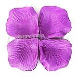 100pcs Purple Silk Rose Petals Wedding Bridal Party Flower Scatters