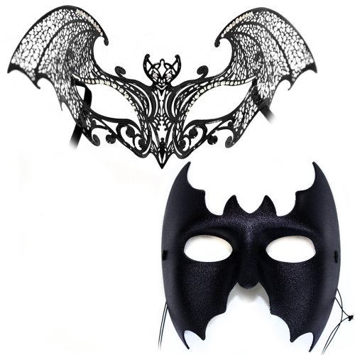 Nocturne-Escape Masks - Masquerade Masks for a Couple