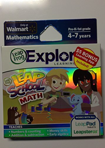 LeapFrog Explorer Learning Game Leap School Math with $5 Bonus Learning App Included!
