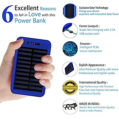 Solar Charger COOLNUT® 13000mAh Dual USB Port Portable Backup Solar Power  Bank with SUNPOWER Panel for USB Supported