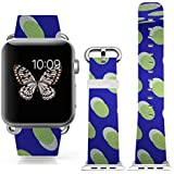 Iwatch Bands Strap 42mm Apple Watch Band Genuine Prime Elegant Leather Replacement For All IWatch With Silver... - B01BSMJ2LQ