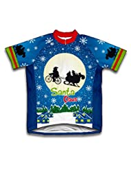 E.T. Santa Claus Short Sleeve Cycling Jersey for Women