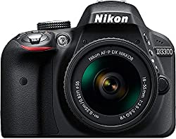 Nikon D3300 Digital SLR Camera (Black) with AF-P 18-55mm VR and AF-S DX 55-200mm VR II , Double Zoom Kit with 8GB Card, Camera Bag