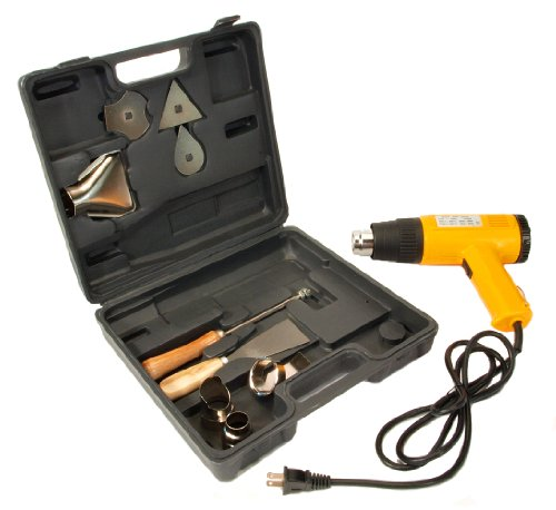 Electric-Heat-GUN-Dual-Temperature-Case-and-Nozzles-Heavy-Duty-Kit-New