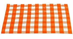 Guzzini Art And Cafe 18-Inch by 13-Inch Chess Placemat, Orange