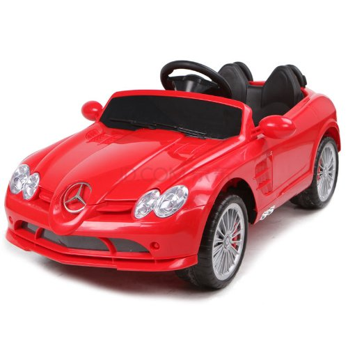 4Ch Remote Controlled Electric Licensed Mercedes Benz Ride-On Sports Car For Kids Ages 2-4 With Lights & Music 2 Motors 12 Volts