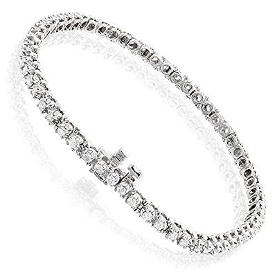 Round Diamond Tennis Bracelet 14k Gold by Luxurman (1.5 Cttw, H Color, SI Clarity)