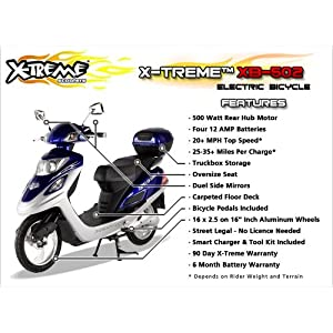 X-Treme Scooters XB-502 Electric Variable Speed Bicycle w/ Cargo Box