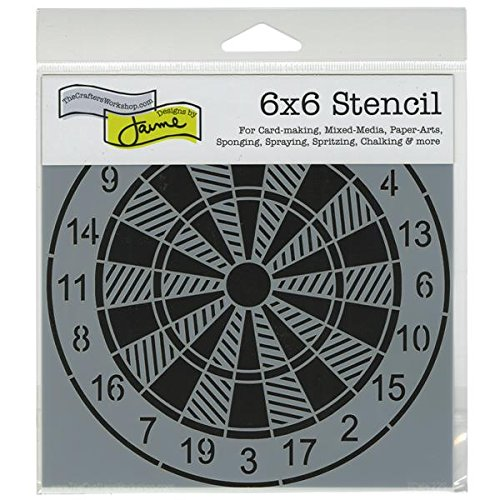 crafters workshop template 6 by 6inch dartboard
