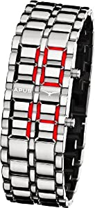 APUS Zeta Silver-Red LED Watch for Him Design Highlight
