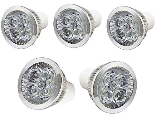 Generic 5 X Gu10 Warm White 4X3W = 12W Dimmable Led Light Lamp Bulb Spotlight Energy Saving Super Bright Epistar (5-Pack)