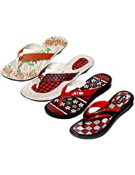 Krocs Super Comfortable Combo Pack Of 2 Pair Flip Flop With 2 Pair Slippers For Women (Pack Of 4 Pair) - B01JS6T0DY