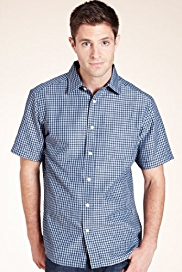 Modal Blend Soft Touch Mini Dobby Checked Shirt