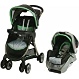Graco FastAction Richmond Travel System, Charcoal/Green, 1-Pack
