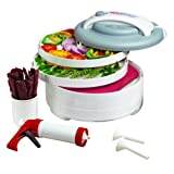 Nesco American Harvest FD-61WHC Snackmaster Express Food Dehydrator All-In-One Kit with Jerky Gun ~ Nesco