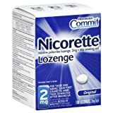 Nicorette Lozenges, 2 mg, 108-Count Box (Original Flavor) ~ Commit
