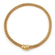 Gold Plated Mesh Magnetic Choker Necklace – 42cm length