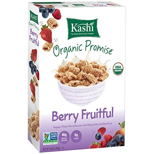 Kashi Organic Promise Cereal, Berry Fruitful Whole Wheat Biscuits, 15.6 Ounce (Pack of 12) by Kashi (Kashi Organic Berry Fruitful compare prices)
