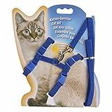 (イーエフイー)EFE 猫ちゃんハーネス 猫用リード ロープ着き ナイロン製 耐久性 ハーネス調節可能 簡単設置 散歩 6色 ワンサイズ ロープ長さ/117cm 幅/1cm ブルー ワンサイズ