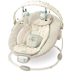 bright starts 6907 comfort und harmony cradling bouncer biscotti baby. Black Bedroom Furniture Sets. Home Design Ideas