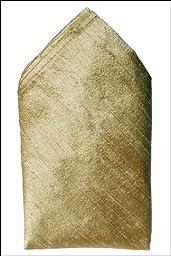 Gold Dupioni Silk Handkerchief - Full-Sized 16\