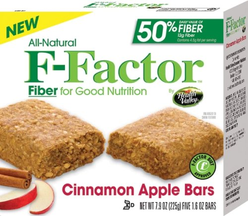 Health Valley F-Factor Cinnamon Apple Bar, 7.9-Ounce (Pack of 6)