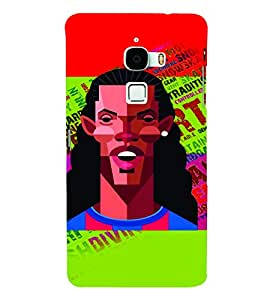 PrintVisa Sports Football 3D Hard Polycarbonate Designer Back Case Cover for LeEco Le Max