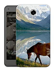 """Humor Gang Horses And Mountains Printed Designer Mobile Back Cover For """"Lenovo S880"""" (3D, Matte Finish, Premium Quality, Protective Snap On Slim Hard Phone Case, Multi Color)"""