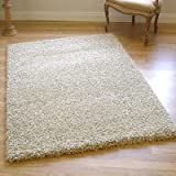 Twilight 39001-2868 Thick Luxurious Shaggy Rug Beige Ivory Mix