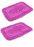 Fablooms Pink Shaggy Door Mat Set- 2 Pcs