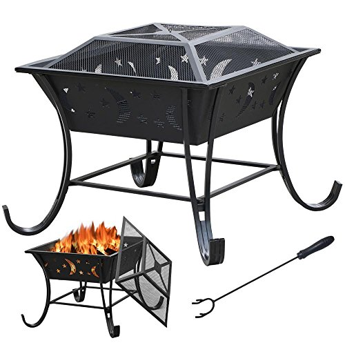 Yaheetech-Outdoor-Metal-Firepit-Backyard-Patio-Garden-Square-Stove-Fire-Pit-Fire-Bowl