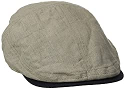 Tommy Bahama Men's Linen Sectioned Ivy Cap, Natural, Large
