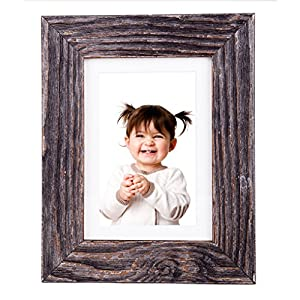 5x7 inch natural wood picture frame matted - Picture frame without glass ...