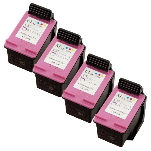 Sophia Global Remanufactured Ink Cartridge Replacement For Hp 61Xl (4 Color)